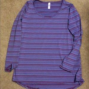 NWT Lularoe Purple Stripes Lynnae Size Medium